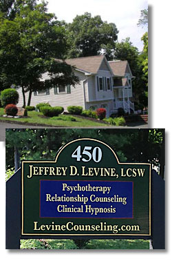 Office building and signage for Levine Counseleing